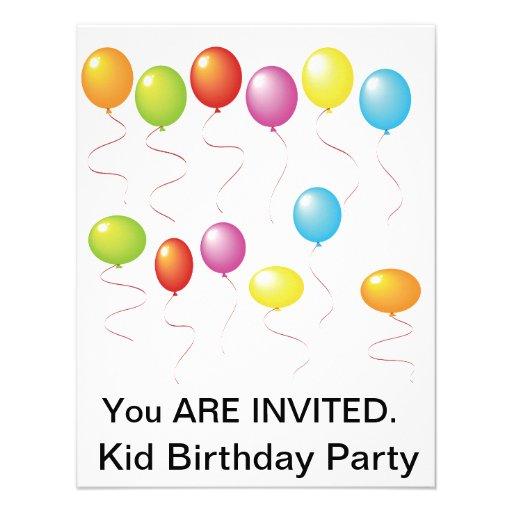 Convites de festas de aniversários de Ballnoos