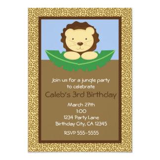 Convites de festas de aniversários do leão do