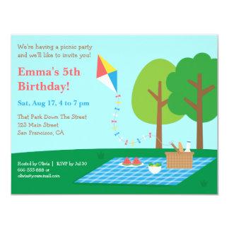 Convites de festas de aniversários do piquenique