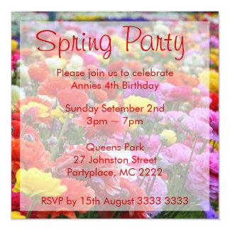 Convites de festas de aniversários do primavera