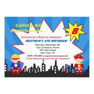 Convites de festas de aniversários do super-herói