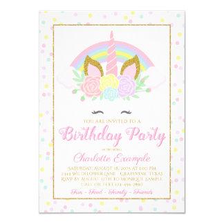 Convites de festas de aniversários do unicórnio do