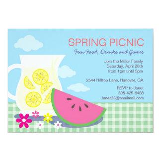 Convites de festas do piquenique do verão do