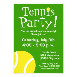 Convites de festas do tênis para aniversários ou