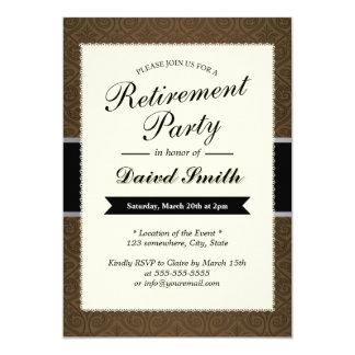 Convites de festas elegantes da aposentadoria do
