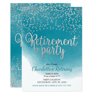Convites de festas modernos da aposentadoria