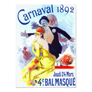 Convites de Jules Cheret Carnaval