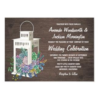 Convites de madeira rústicos do casamento da