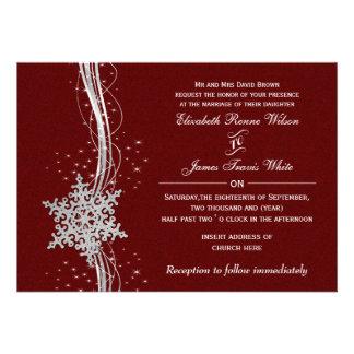 convites de prata vermelhos do casamento no