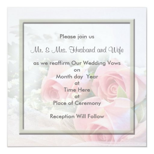 Renewal Wedding Invitations for nice invitations layout
