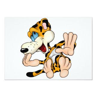 Convites de riso do leopardo