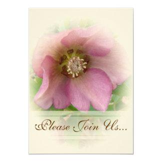 Convites de Weddding do rosa quaresmal Convite 12.7 X 17.78cm