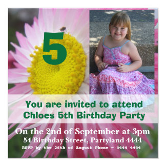 Convites do aniversário da margarida de papel