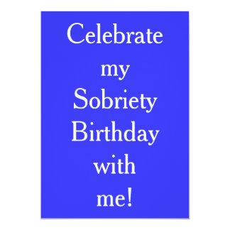 Convites do aniversário da sobriedade
