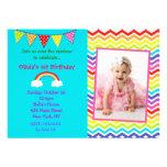 Convites do aniversário do arco-íris