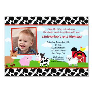 Convites do aniversário do Barnyard da fazenda