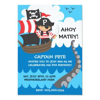 Convites do aniversário do miúdo do pirata