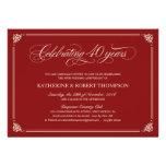 Convites do aniversário do rubi formal 40th