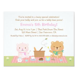 Convites do aniversário do tea party do piquenique