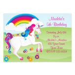 Convites do aniversário do unicórnio do arco-íris