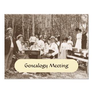 Convites do anúncio da reunião da árvore