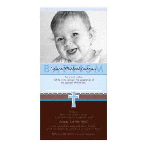CONVITES DO BAPTISMO DA FOTO:: 5 puros Cartao Com Fotos