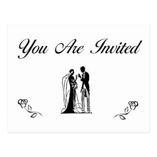 Convites do casamento cartoes postais