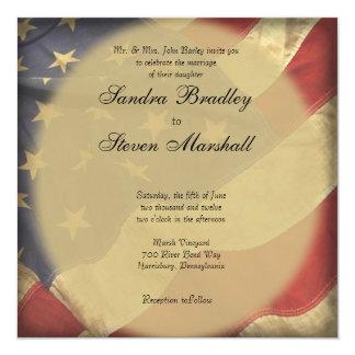 Convites do casamento da bandeira americana