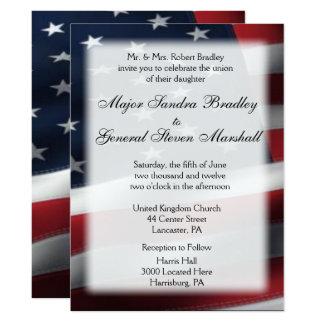 """Convites do casamento da bandeira americana 6,5"""" x"""