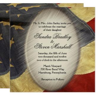 Convites do casamento da bandeira americana do