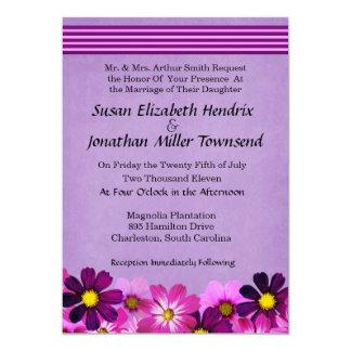 Convites do casamento da flor