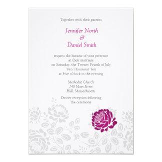 Convites do casamento da peônia