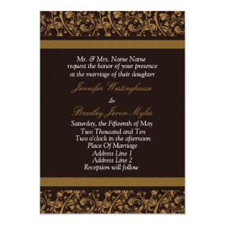 Convites do casamento de Brown e de Tan