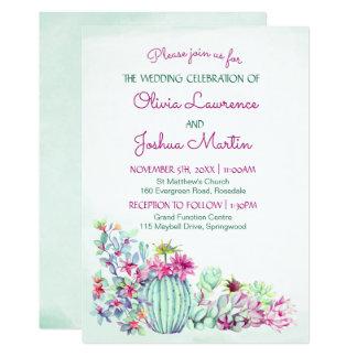 Convites do casamento do cacto