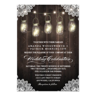 Convites do casamento do frasco da madeira do