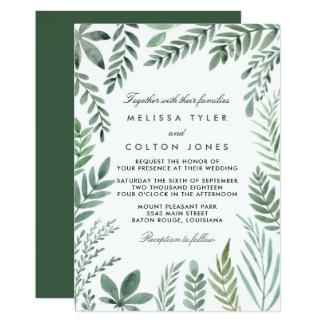 Convites do casamento do jardim botânico