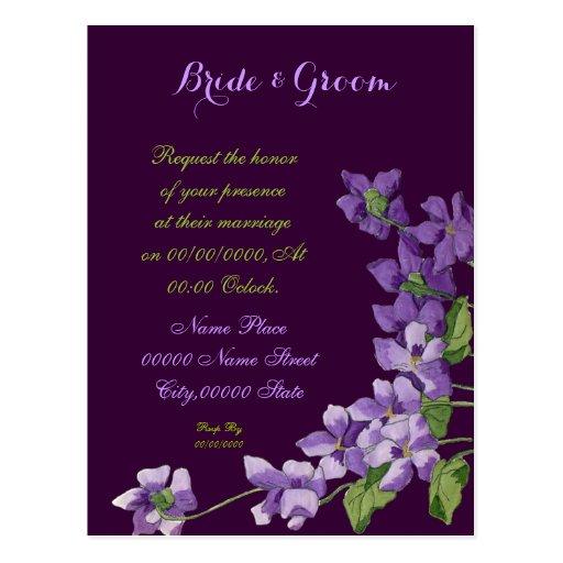 Convites do casamento do orçamento, casamento do cartões postais