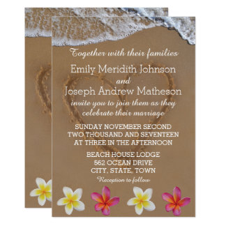 Convites do casamento do Plumeria/Frangipani