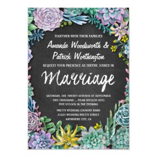 Convites do casamento do Succulent e do quadro