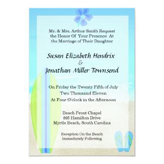 Convites do casamento do surfista da praia convite 12.7 x 17.78cm