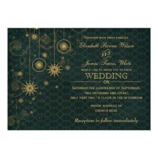 convites do casamento no inverno dos flocos de