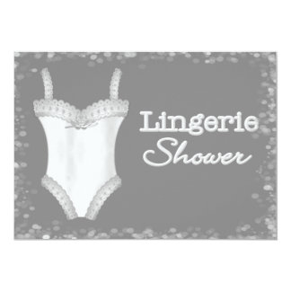 Convites do chá da lingerie