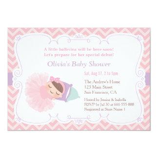 Convites do chá do bebé da bailarina do sono