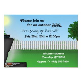 Convites do CHURRASCO do quintal do verão