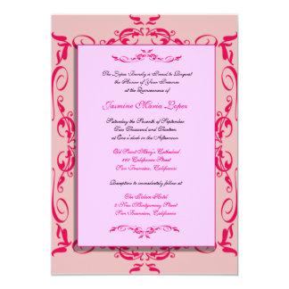 Convites do costume de Quinceanera