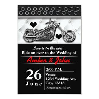 Convites do evento do casamento da motocicleta do