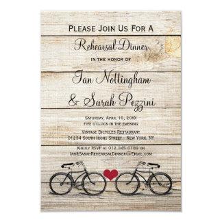 Convites do jantar de ensaio da bicicleta do