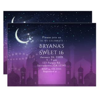Convites do Oriente Médio marroquinos das noites