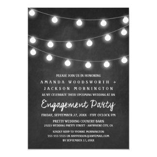 Convites do quadro e da festa de noivado das luzes