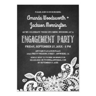 Convites do quadro e da festa de noivado do laço